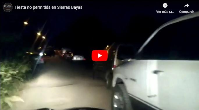 Sierras Bayas: Realizaron infracciones por una fiesta no permitida