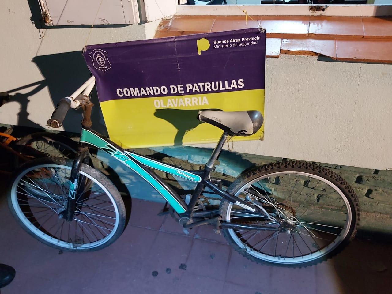 Delincuente con frondosos antecedentes terminó preso tras robar dos bicicletas
