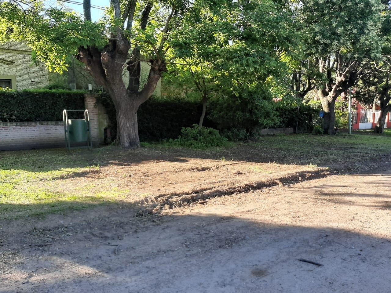 Trabajos de limpieza en espacios públicos de Sierra Chica