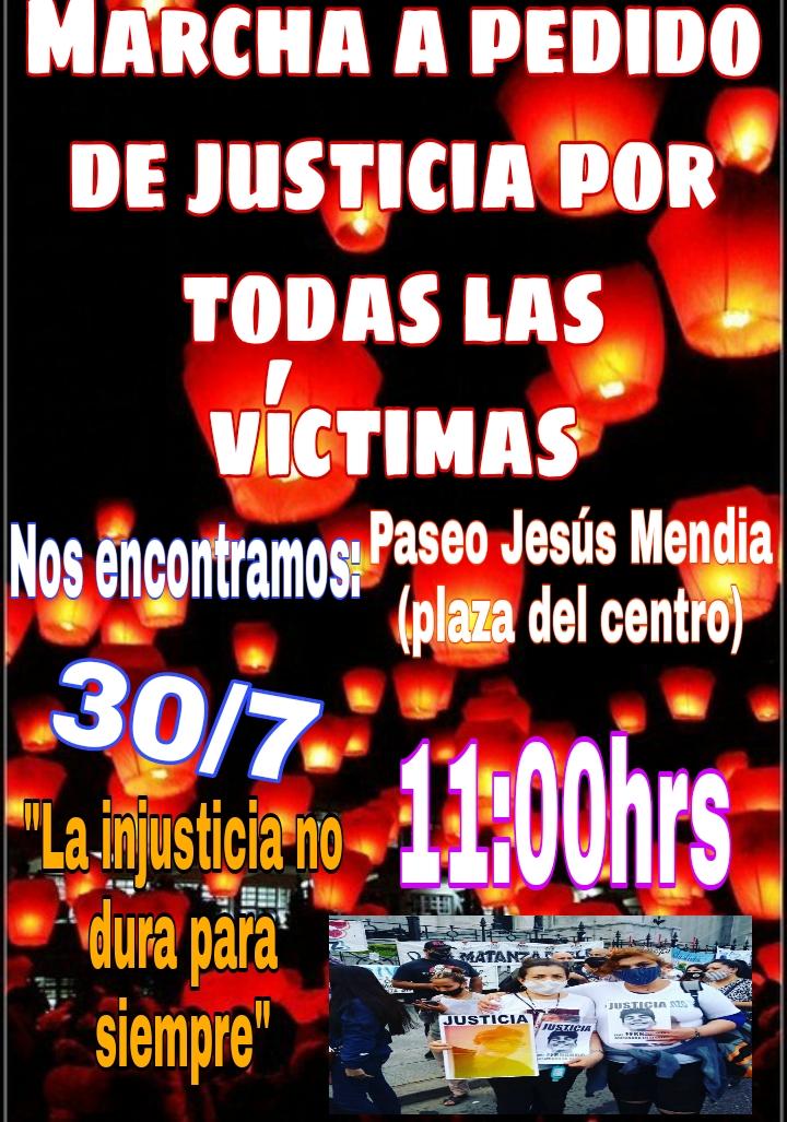 Pedido de justicia y marcha «por todas las víctimas»